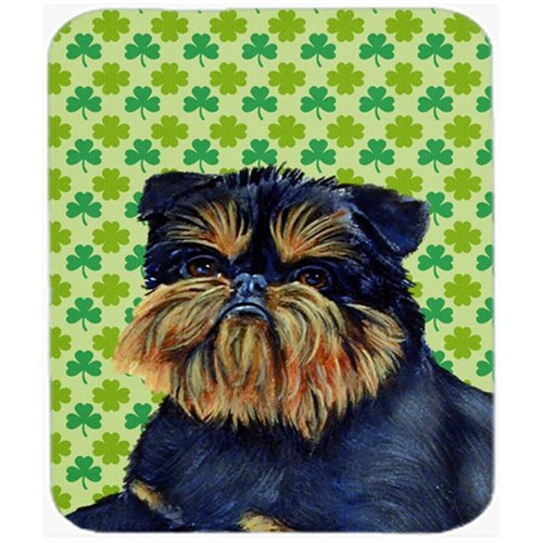 Carolines Treasures LH9208MP Brussels Griffon St. Patricks Day Shamrock Mouse Pad Hot Pad or Trivet