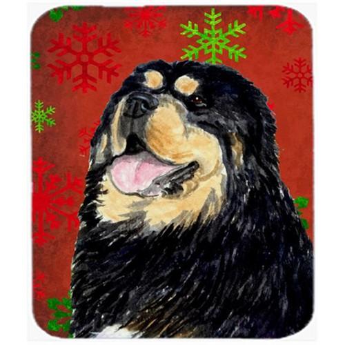 Carolines Treasures SS4719MP Tibetan Mastiff Snowflakes Holiday Christmas Mouse Pad Hot Pad or Trivet