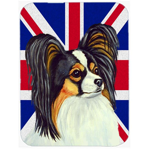 Carolines Treasures LH9503MP 7.75 x 9.25 In. Papillon With English Union Jack British Flag Mouse Pad Hot Pad Or Trivet