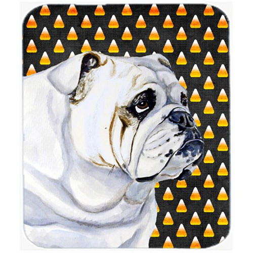 Carolines Treasures LH9060MP Bulldog English Candy Corn Halloween Portrait Mouse Pad Hot Pad or Trivet