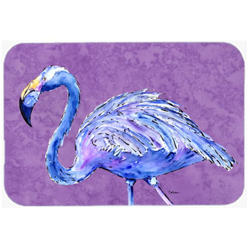 Carolines Treasures 8874MP 9.5 x 8 in. Flamingo on Purple Mouse Pad Hot Pad or Trivet