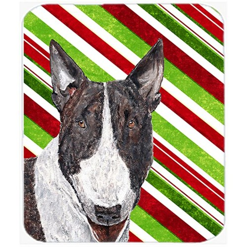 Carolines Treasures SC9617MP Bull Terrier Candy Cane Christmas Mouse Pad Hot Pad Or Trivet