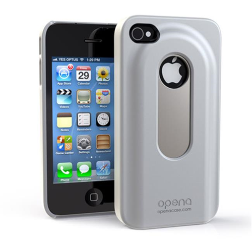 Annex Fitted Hard Shell Case for iPhone 4; iPhone 4S - White