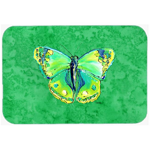 Carolines Treasures 8863MP Butterfly Green on Green Mouse Pad Hot Pad or Trivet