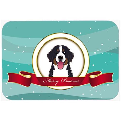 Carolines Treasures BB1547MP Bernese Mountain Dog Merry Christmas Mouse Pad Hot Pad & Trivet