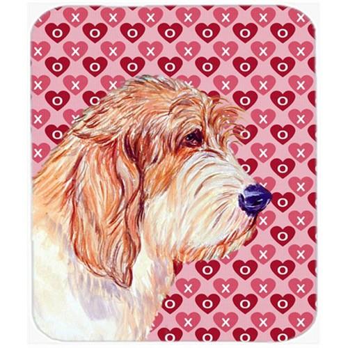 Carolines Treasures LH9172MP Petit Basset Griffon Vendeen Hearts Love Mouse Pad Hot Pad Trivet