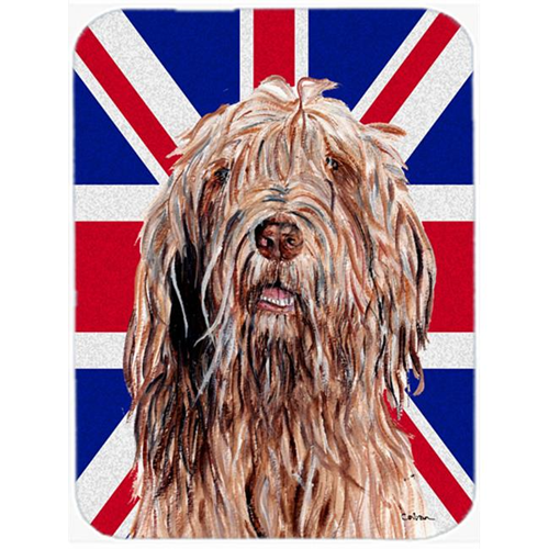Carolines Treasures SC9878MP 7.75 x 9.25 In. Otterhound With English Union Jack British Flag Mouse Pad Hot Pad Or Trivet