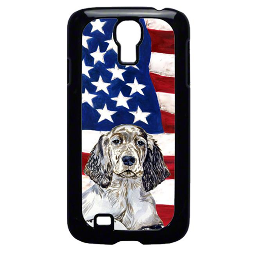 Carolines Treasures LH9022GALAXYS4 USA American Flag with English Setter Cell Phone Cover GALAXY S4