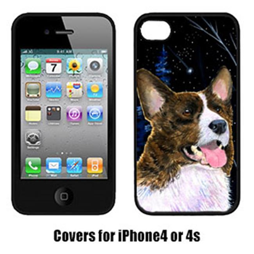 Carolines Treasures SS8387IP4 Starry Night Corgi Cell Phone cover IPhone 4
