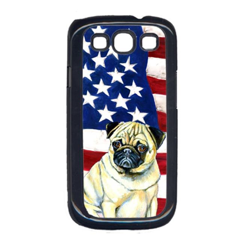 Carolines Treasures LH9002GALAXYS3 USA American Flag with Pug Cell Phone Cover GALAXY S111