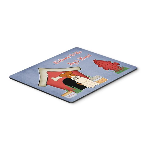 Carolines Treasures BB2855MP Dog House Collection Wire Fox Terrier Mouse Pad Hot Pad or Trivet