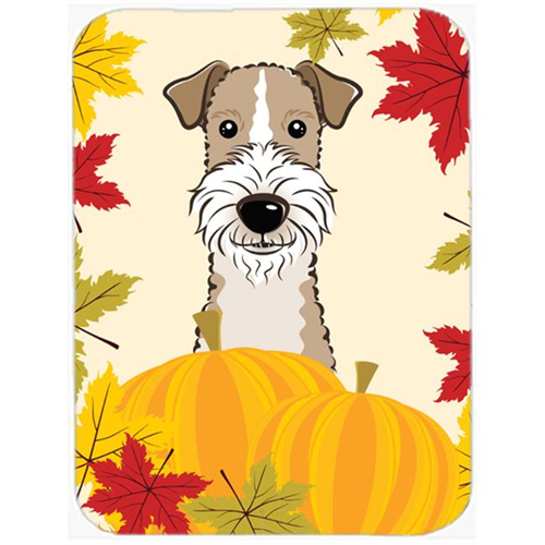 Carolines Treasures BB2053MP Wire Haired Fox Terrier Thanksgiving Mouse Pad Hot Pad or Trivet