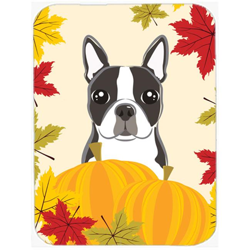 Carolines Treasures BB2009MP Boston Terrier Thanksgiving Mouse Pad Hot Pad or Trivet