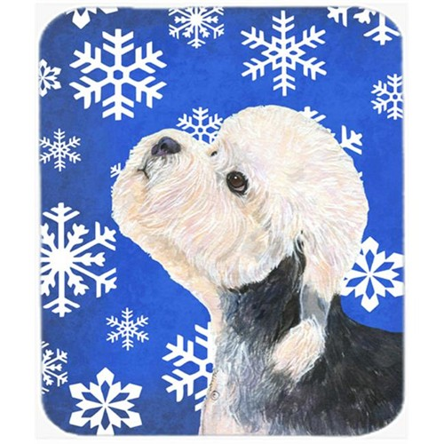 Carolines Treasures SS4641MP Dandie Dinmont Terrier Winter Snowflakes Holiday Mouse Pad Hot Pad or Trivet