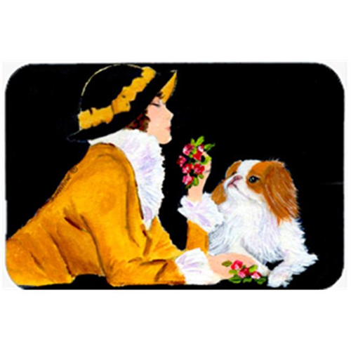 Carolines Treasures SS8540MP Lady With Her Japanese Chin Mouse Pad & Hot Pad Or Trivet