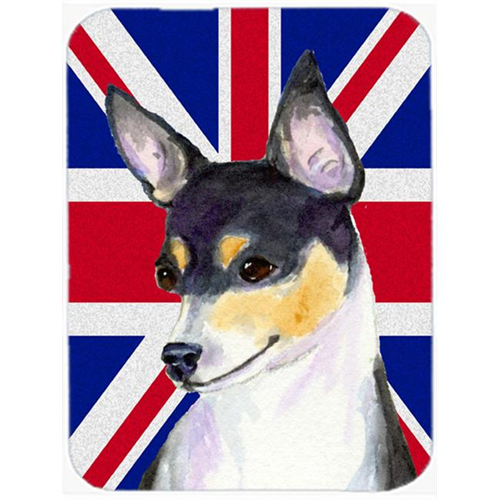 Carolines Treasures SS4960MP 7.75 x 9.25 In. Rat Terrier With English Union Jack British Flag Mouse Pad Hot Pad Or Trivet