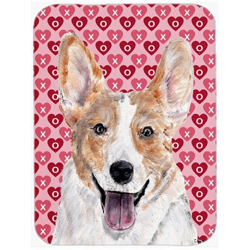 Carolines Treasures SC9696MP Cardigan Corgi Hearts And Love Mouse Pad Hot Pad Or Trivet 7.75 x 9.25 In.