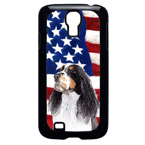 Carolines Treasures SC9016GALAXYS4 USA American Flag with Springer Spaniel Cell Phone Cover GALAXY S4