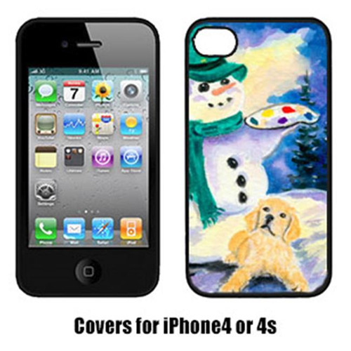 Carolines Treasures SS8994IP4 Snowman With Golden Retriever Cell Phone Cover Iphone4