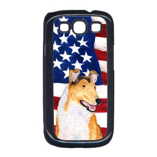 Carolines Treasures SS4226GALAXYS3 USA American Flag with Collie Smooth Cell Phone Cover GALAXY S111