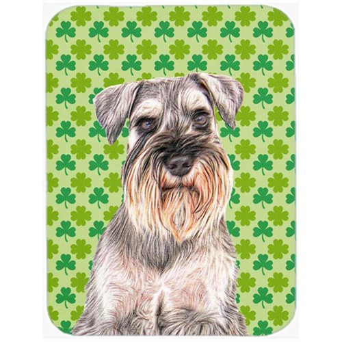 Carolines Treasures KJ1200MP St. Patricks Day Shamrock Schnauzer Mouse Pad Hot Pad or Trivet