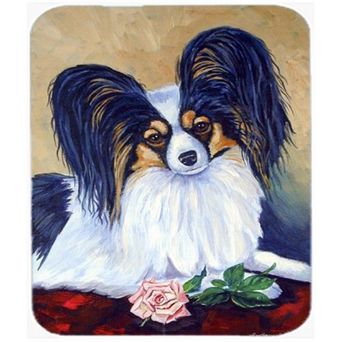 Carolines Treasures 7037MP 9.5 x 8 in. Papillon A Rose For You Mouse Pad Hot Pad or Trivet