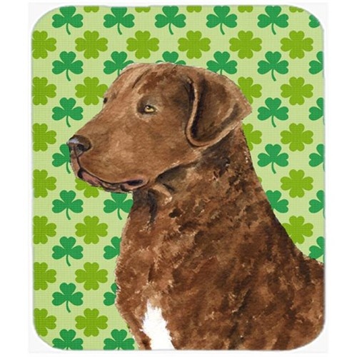 Carolines Treasures SS4462MP Chesapeake Bay Retriever St. Patricks Day Shamrock Mouse Pad Hot Pad Trivet
