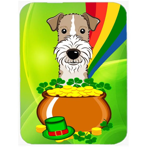 Carolines Treasures BB1991MP Wire Haired Fox Terrier St. Patricks Day Mouse Pad Hot Pad or Trivet