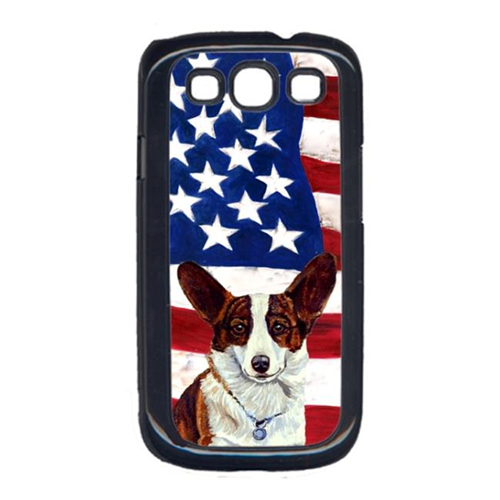 Carolines Treasures LH9011GALAXYS3 USA American Flag with Corgi Cell Phone Cover GALAXY S111