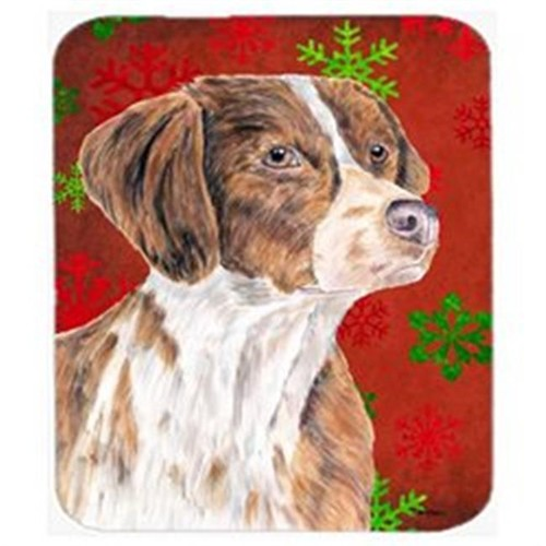 Carolines Treasures SC9429MP Brittany Red And Green Snowflakes Holiday Christmas Mouse Pad Hot Pad Trivet
