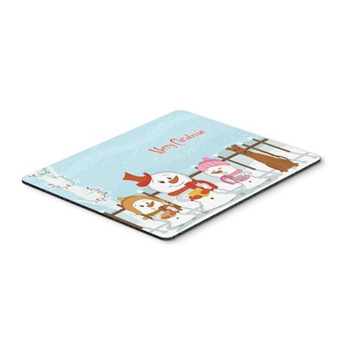 Carolines Treasures BB2393MP Merry Christmas Carolers Irish Terrier Mouse Pad Hot Pad or Trivet
