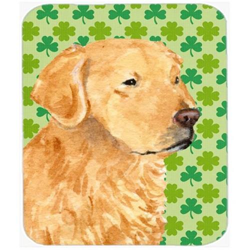 Carolines Treasures SS4407MP Golden Retriever St. Patricks Day Shamrock Mouse Pad Hot Pad Or Trivet