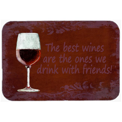 Carolines Treasures SB3068MP 7.75 x 9.25 In. The Best Wines Are The Ones We Drink With Friends Mouse Pad Hot Pad Or Trivet