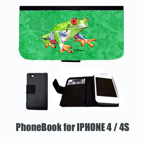 Carolines Treasures 8688-NBIP4 Frog Cell Phonebook Cell Phone case Cover for IPHONE 4 or 4S