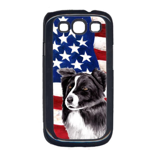 Carolines Treasures SC9009GALAXYS3 USA American Flag with Border Collie Cell Phone Cover GALAXY S111