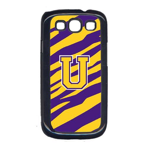 Carolines Treasures CJ1022-U-GALAXYSIII Tiger Stripe - Purple Gold Letter U Monogram Initial Galaxy S111 Cell Phone Cover