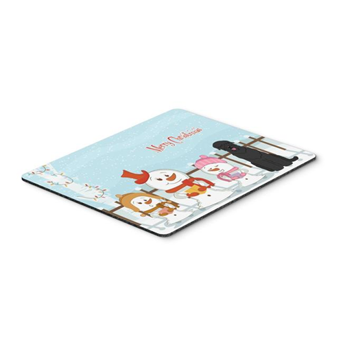 Carolines Treasures BB2357MP Merry Christmas Carolers Black Russian Terrier Mouse Pad Hot Pad or Trivet