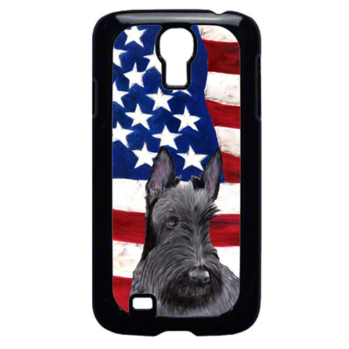 Carolines Treasures SC9032GALAXYS4 USA American Flag with Scottish Terrier Cell Phone Cover GALAXY S4