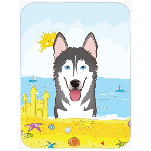 Carolines Treasures BB2086MP Alaskan Malamute Summer Beach Mouse Pad Hot Pad or Trivet