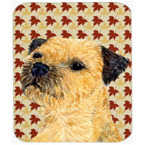 Carolines Treasures LH9098MP Border Terrier Fall Leaves Portrait Mouse Pad Hot Pad Or Trivet