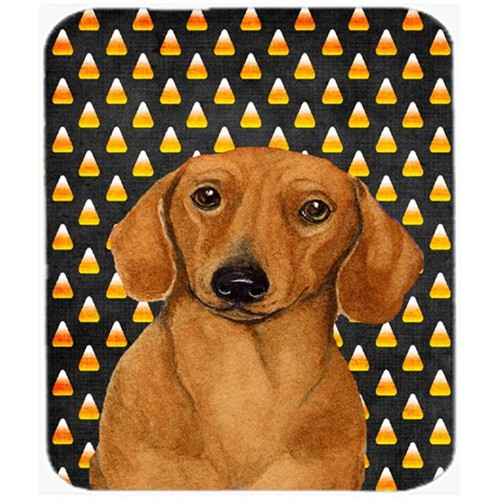 Carolines Treasures LH9053MP Dachshund Candy Corn Halloween Portrait Mouse Pad Hot Pad or Trivet