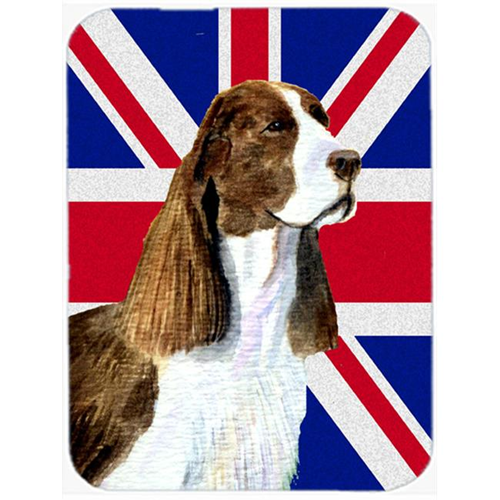 Carolines Treasures SS4955MP 7.75 x 9.25 In. Springer Spaniel With English Union Jack British Flag Mouse Pad Hot Pad Or Trivet