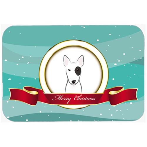 Carolines Treasures BB1519MP Bull Terrier Merry Christmas Mouse Pad Hot Pad & Trivet