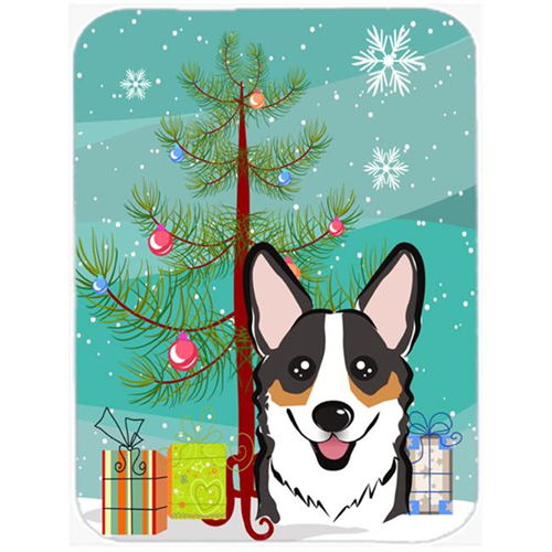 Carolines Treasures BB1627MP Christmas Tree And Tricolor Corgi Mouse Pad Hot Pad & Trivet