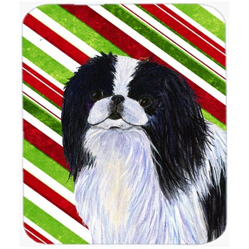 Carolines Treasures SS4536MP Japanese Chin Candy Cane Holiday Christmas Mouse Pad Hot Pad Or Trivet