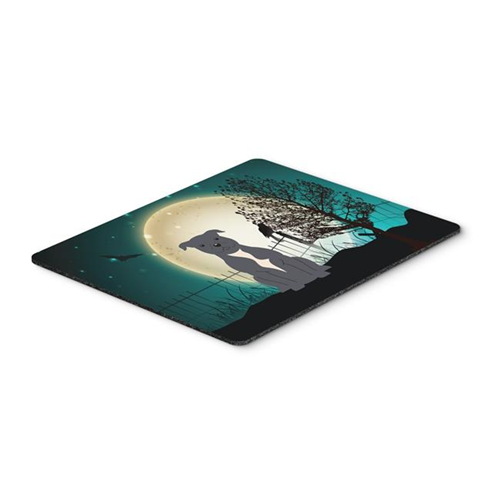 Carolines Treasures BB2236MP Halloween Scary Staffordshire Bull Terrier Blue Mouse Pad Hot Pad or Trivet