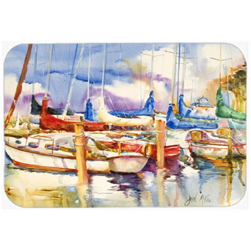 Carolines Treasures JMK1072MP Run Away Sailboats Mouse Pad Hot Pad & Trivet