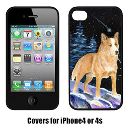 Carolines Treasures SS8407IP4 Starry Night Australian Cattle Dog Cell Phone Cover Iphone4