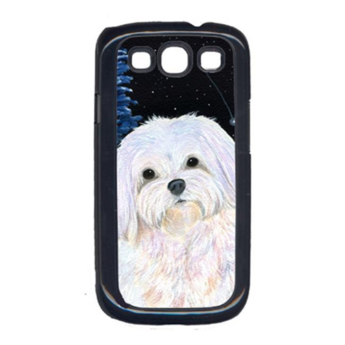 Carolines Treasures SS8460GALAXYSIII Starry Night Maltese Cell Phone Cover Galaxy S111