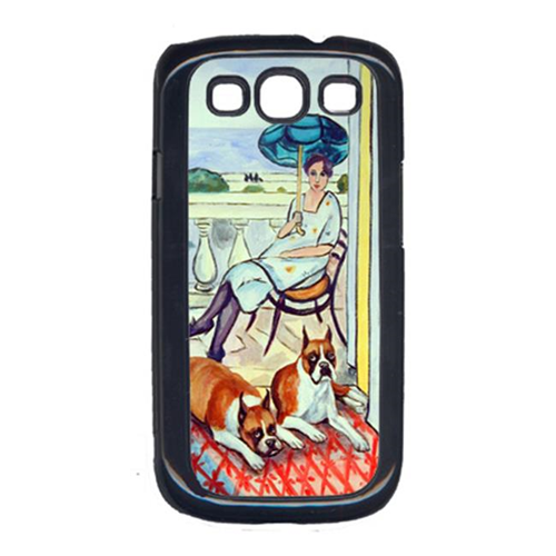 Carolines Treasures 7068GALAXYSIII Lady with her Boxer Cell Phone Cover Galaxy S111